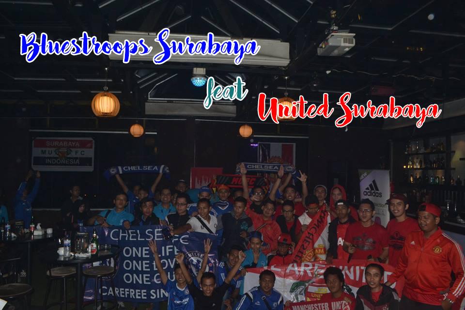 Kemeriahan Nobar Chelsea FC vs Manchester United di Maumu Hotel Surabaya