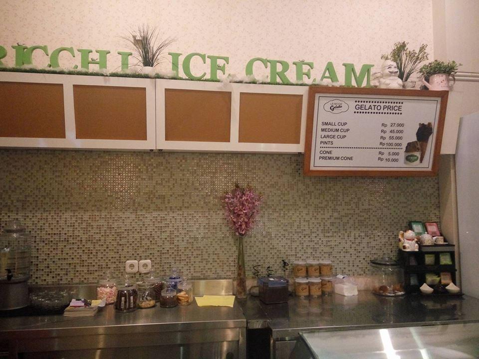 la ricchi ice cream surabaya harga gelato