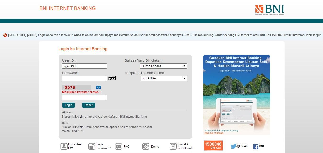 cara mengatasi internet banking bni terblokir