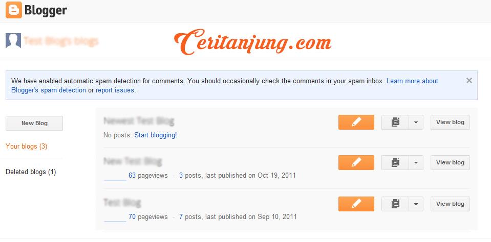 Tampilan Dashboard Blogger Kini Diperbarui, Lebih Luas dan Singkat