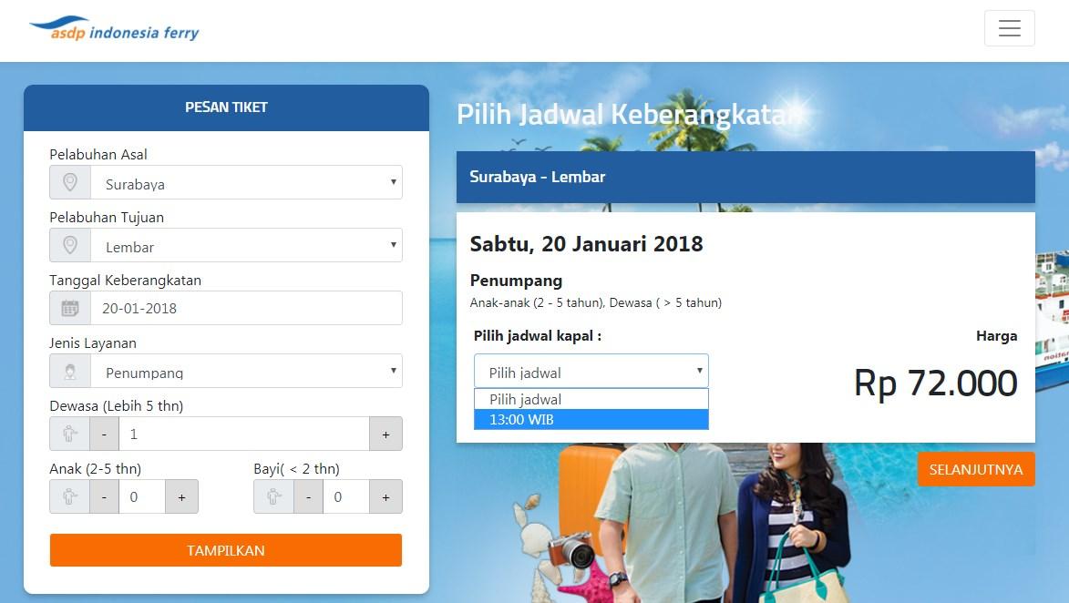 Tiket Kapal Surabaya-Lombok (Lembar) KMP Legundi