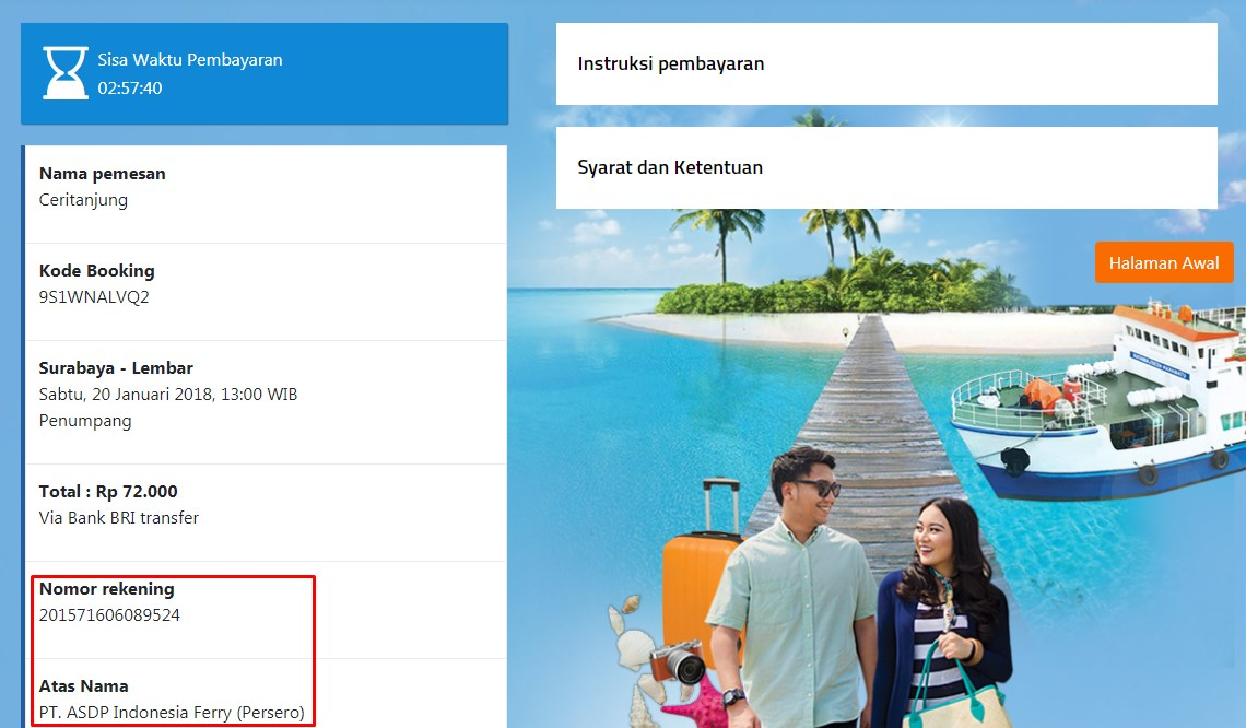 harga tiket kapal legundi surabaya-lombok