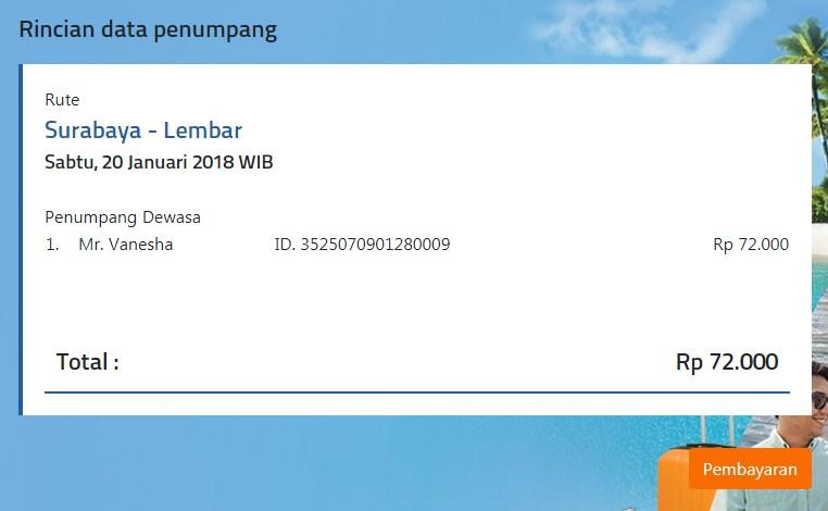 tiket kapal kmp legundi surabaya-lombok