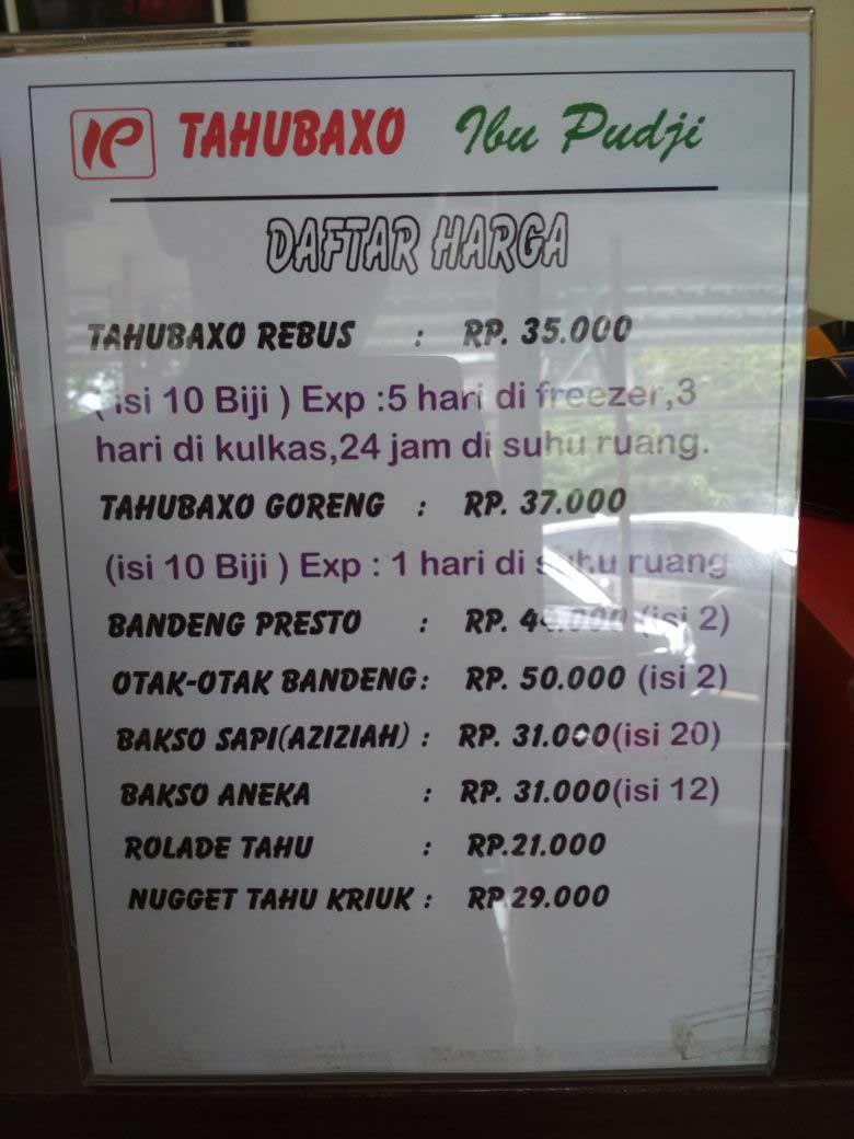 Daftar Harga Tahu Bakso Bu Pudji Semarang Bikin Nagih