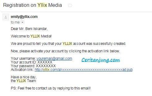 Cara Daftar Iklan Yllix di Blog