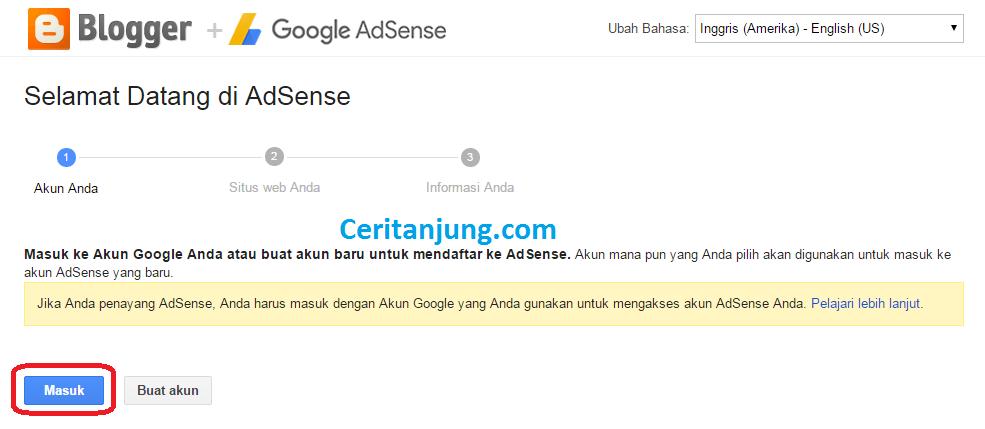 Cara Daftar Google Adsense via Blog 3