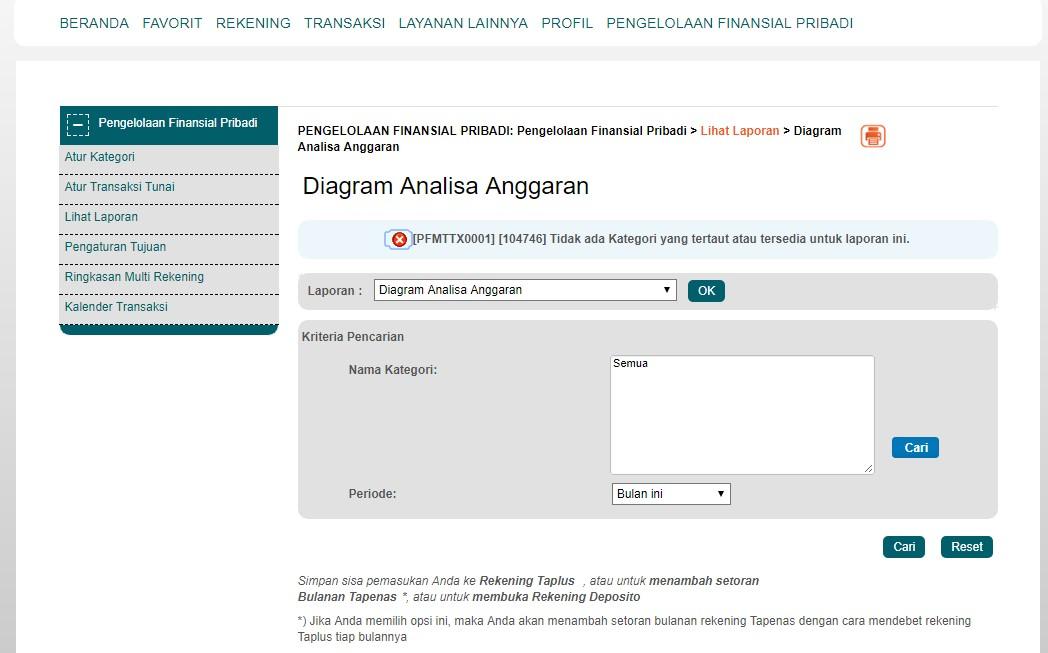 hasil laporan keuangan bni internet banking