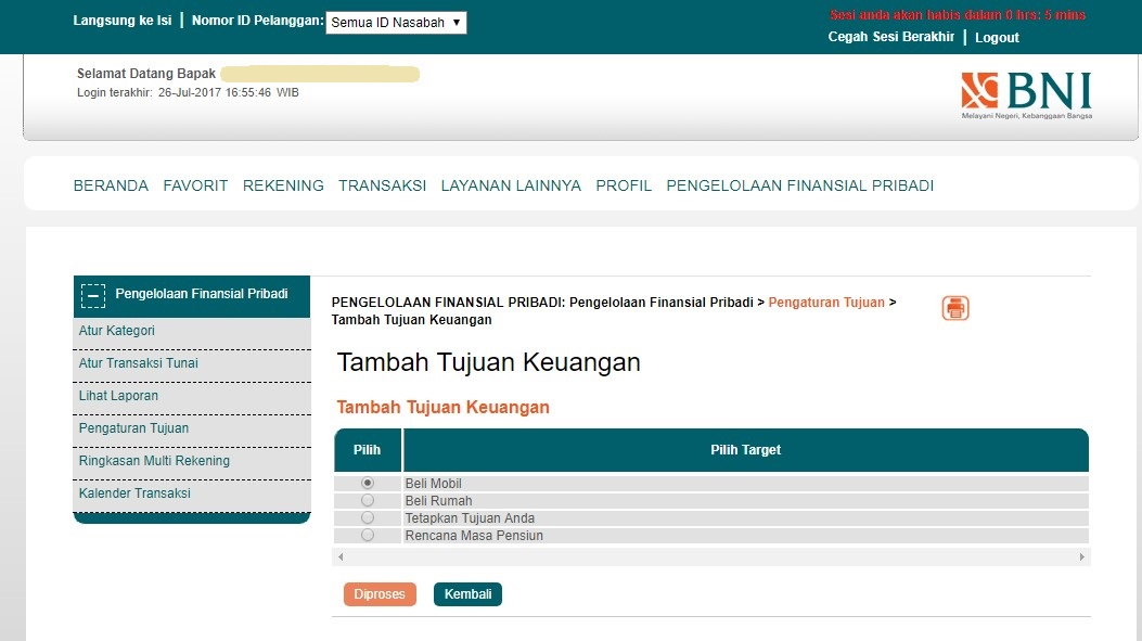 tujuan pengelolaan keuangan BNI