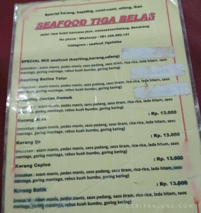 Daftar Harga Seafood Tiga Belas Selera Bos Harga Anaj Kos