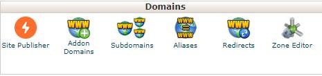 menu Addon Domains