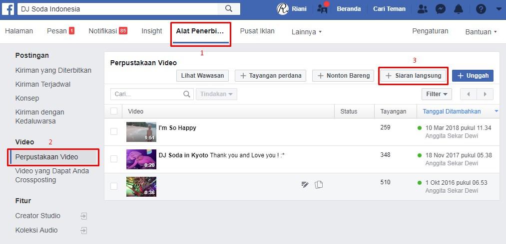 Cara Live Streaming di Halaman Facebook dengan mudah
