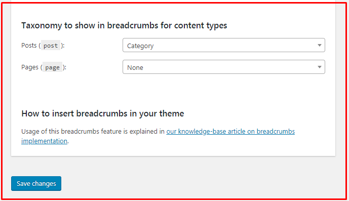 Breadcrumbs settings 2