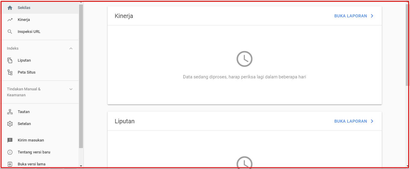 proses perayapan google search console