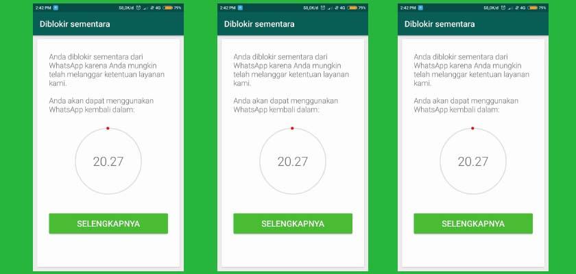 aplikasi whatsapp diblokir