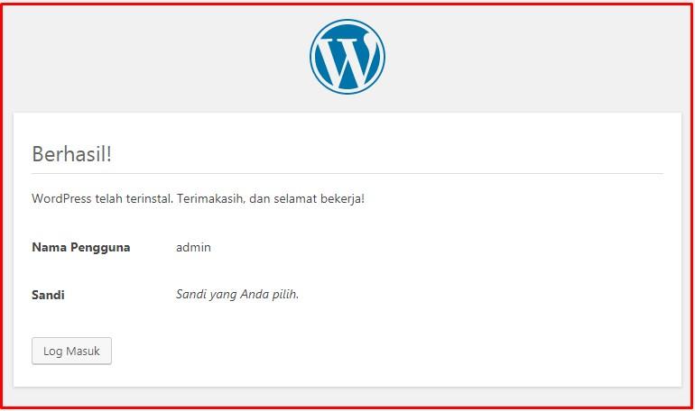 selesai install wordpress offline