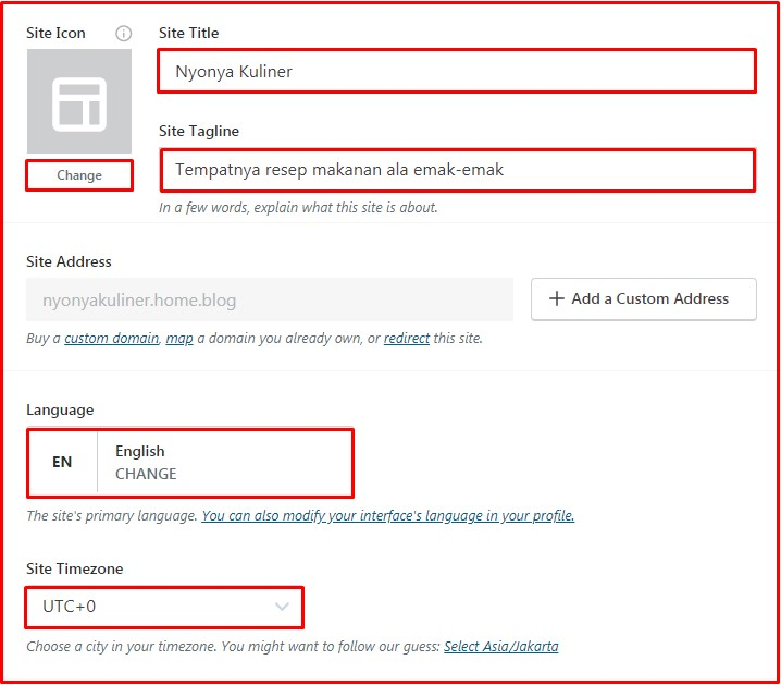setting wordpress gratis