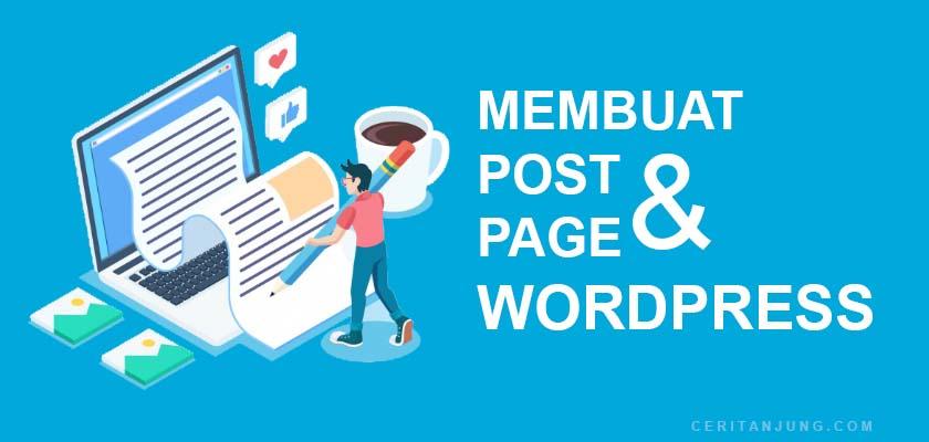 cara membuat postingan dan halaman baru di wordpress
