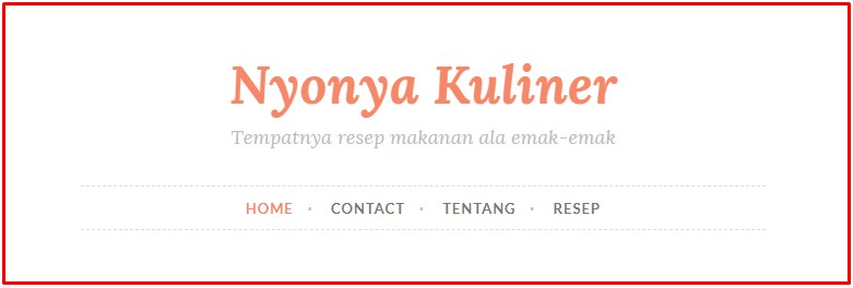menu halaman blog
