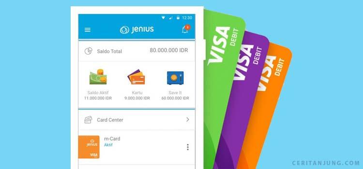 Perbedaan m-Card, e-Card dan x-Card Jenius