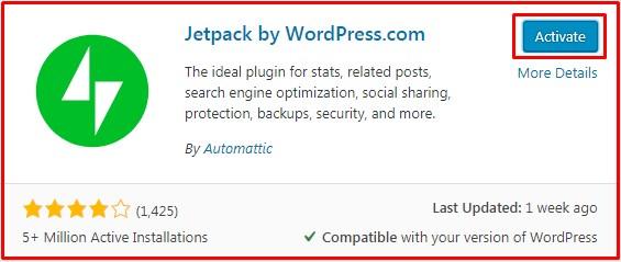 install plugin jetpack