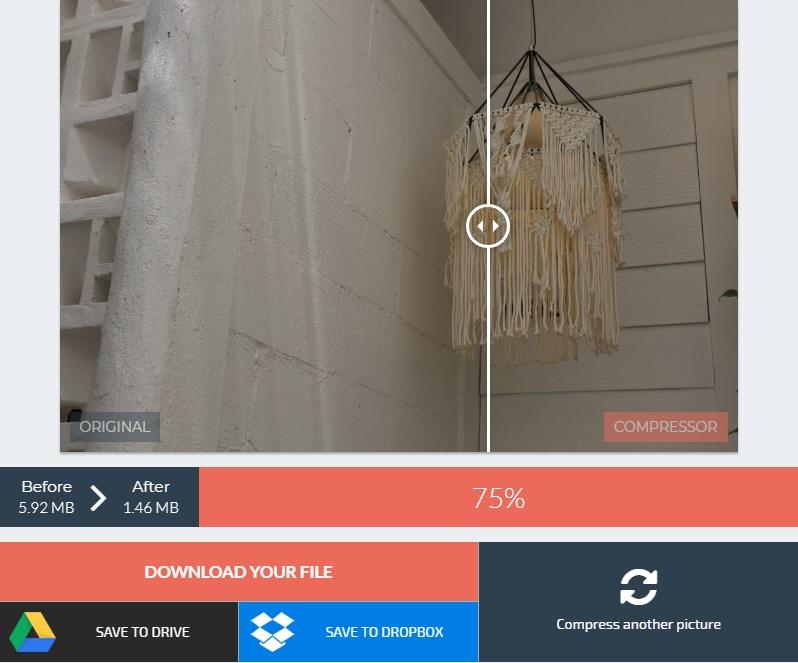 cara optimasi gambar dengan web compressor