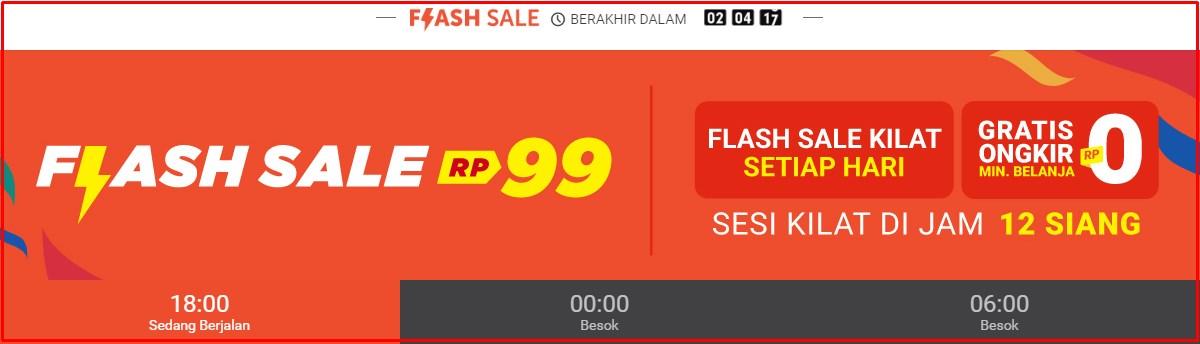 flash sale shopee setiap hari