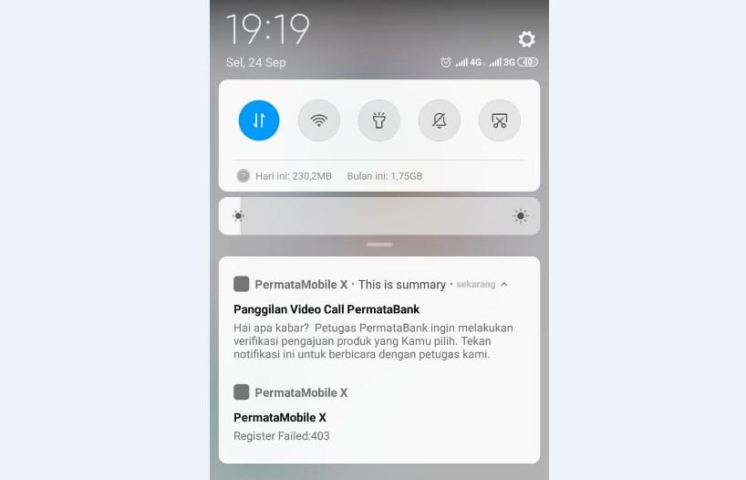 registrasi permata mobile x