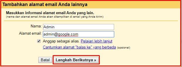 Tambahkan alamat email domain sendiri