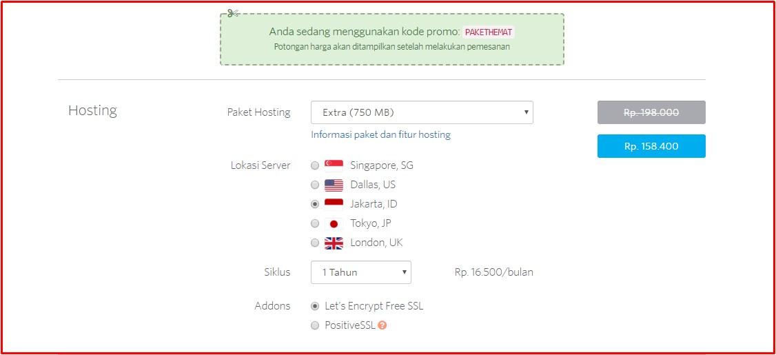 cara membeli domain di domainesia