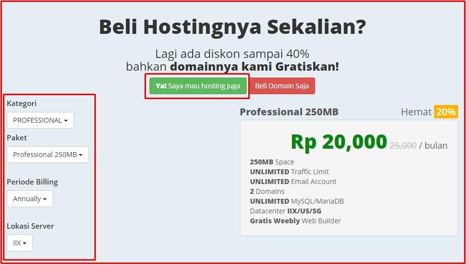 cara mendapatkan domain gratis di rumahweb