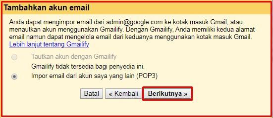 cara setting gmail domain sendiri