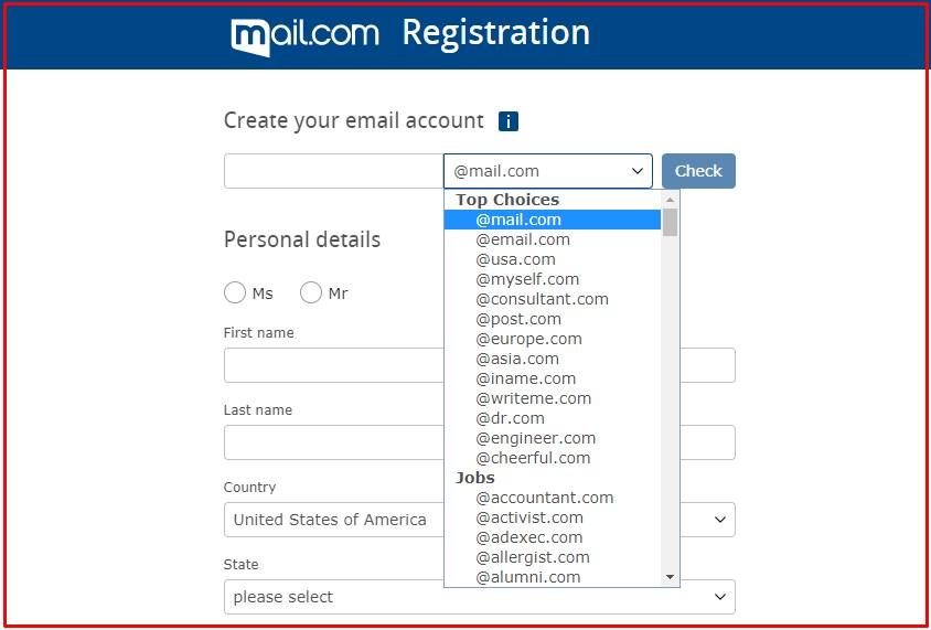 membuat email di mail.com