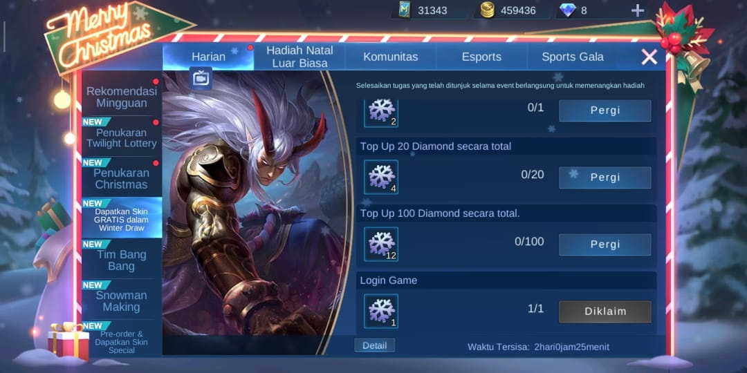 Beli Diamond Mobile Legend Pakai DANA Event Snowflake Winter Draw