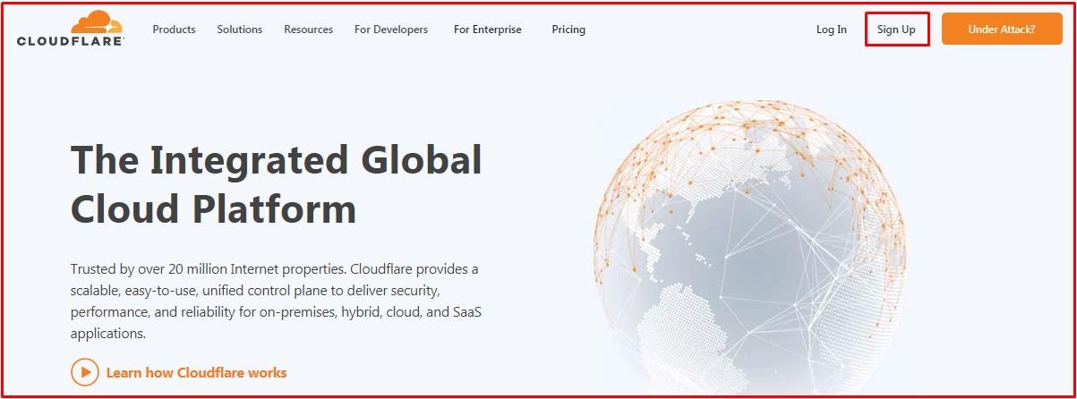 Cara Daftar CDN CloudFlare Gratis