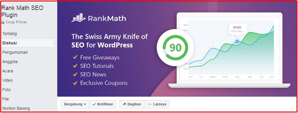 Group Facebook Rank Math SEO