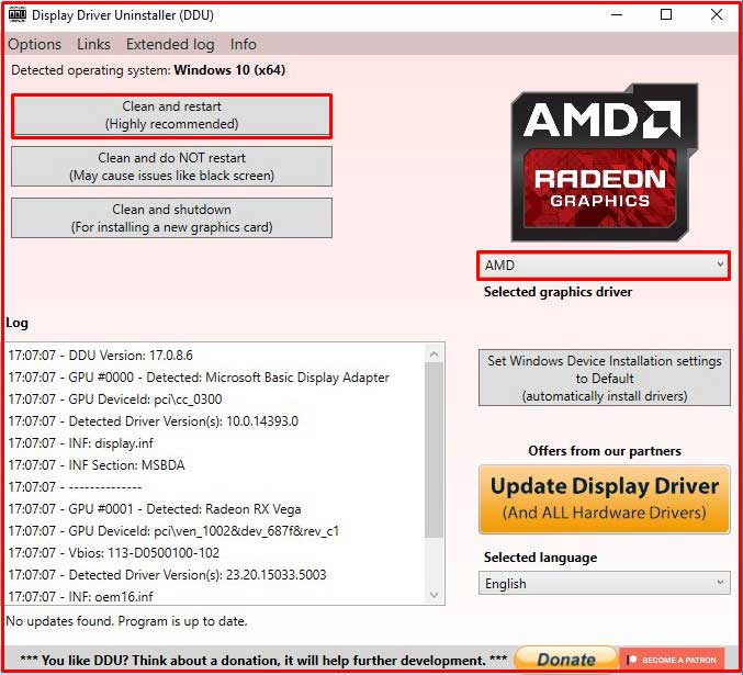 graphics driver AMD