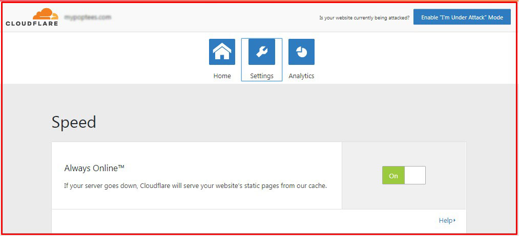 mengatur CDN dan melihat analityc CloudFlare