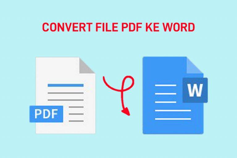 Konversi file PDF ke Microsoft Word atau jenis file lain